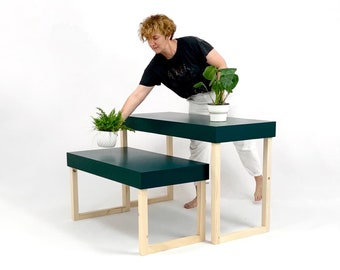 A set of two display tables, choose your color, perfect as a craft show display, store product display