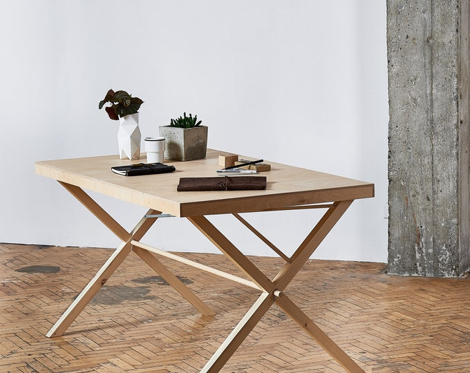 Portable wooden display table VC-02  | pop up store | counter