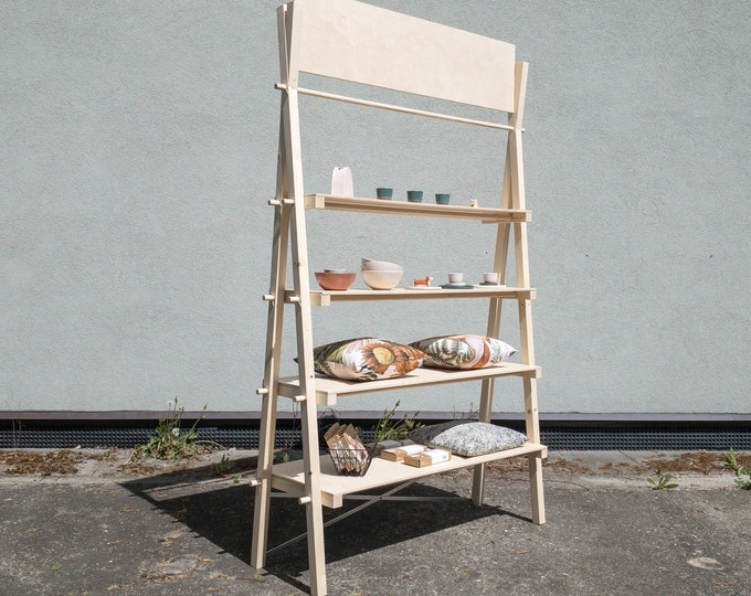 Portable big shelving unit with 4 shelves or drawers VS-03 | pop up store |
