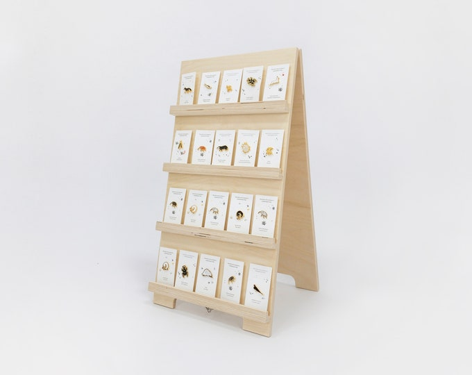 Wooden earring card holder | shop and craft fair display