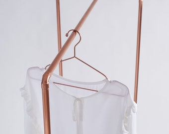 Copper pipe clothing rail CR-01 by Milimetry | copper pipe garment rack | trade show display | fair and shop retail display