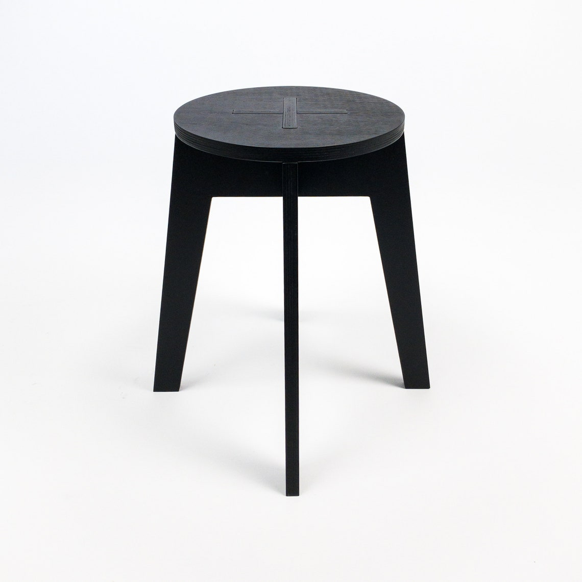 """Modern plywood stool 45cm (17 3/4 """") high, great for craft fairs, studio, workshop, office"""