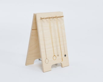 Necklace stand | wooden shop and craft fair display