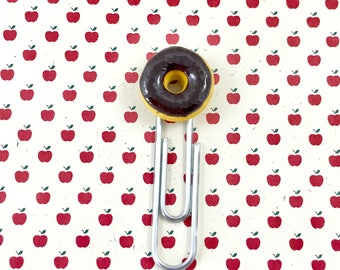 Polymer Clay Chocolate Donut Paperclip