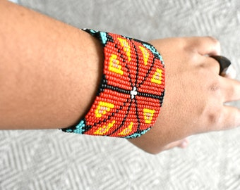 ethnic b Mexican Bracelet Handmade Bracelet Mexican Art Huichol Chaquira