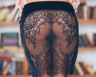Skirt Sexy skirt Pencil skirt Velvet skirt Lace skirt Sexy lace Lace Womens  clothing Velvet Tango skirt Sheer lingerie f5c46050e