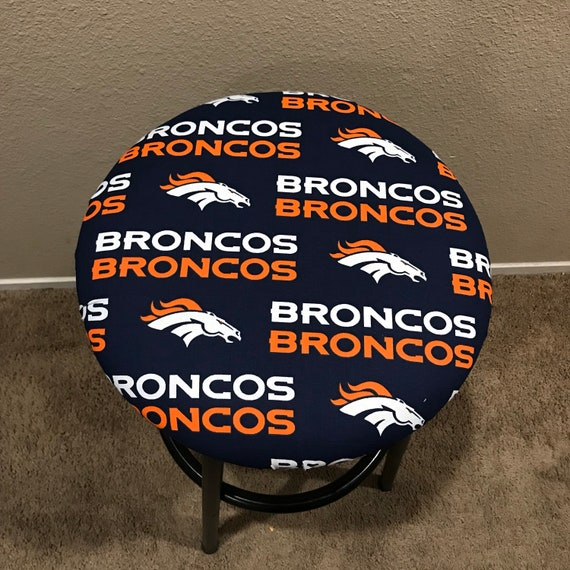Surprising Denver Broncos Raiders Green Bay Cowboys Ny Yankees Lakers Round Barstool Removable Cover Caraccident5 Cool Chair Designs And Ideas Caraccident5Info