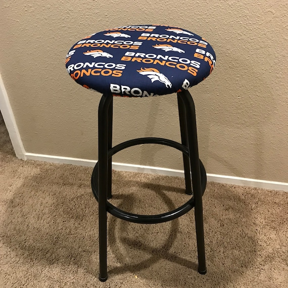 Phenomenal Denver Broncos Raiders Green Bay Cowboys Ny Yankees Lakers Round Barstool Removable Cover Caraccident5 Cool Chair Designs And Ideas Caraccident5Info