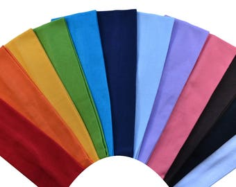 Solid Blank Cotton Stretch Headbands Excellent for Embroidery and Heat Transfer Materials - 2.5 INCHES Wide