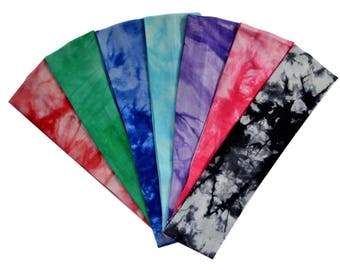 Solid Blank TIE DYE Cotton Stretch Headbands Excellent for Embroidery and  Heat Transfer Materials - 2 INCHES Wide 23b9c79fd69e