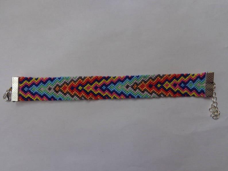 friendship bracelet. Multicolor beaded bracelet made of cotton threads