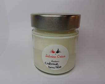Vegetable soy wax scented Creme brulée.