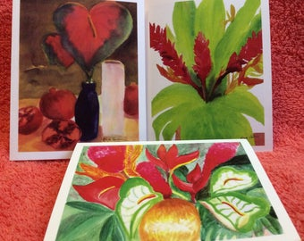 Note Cards Set #5 Floral Flowers