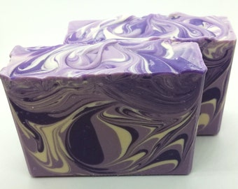 Lavender Essential Oil Soap, Lavender Soap, Cold Process Soap, Essential Oil Soap, Lavender, Purple Soap, Gift For Wife,  Gift Ideas for mom