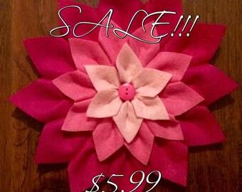 Handmade Felt Pink Multicolor Flower