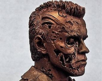 Terminator 2  Resin Bust Bronze Effect
