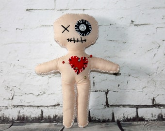 Voodoo Doll With Pins Halloween Gift Gothic Gift Cute Voodoo Doll Zombie Voodoo Doll Halloween Decor Pinhead Doll Cotton Voodoo Doll Gift
