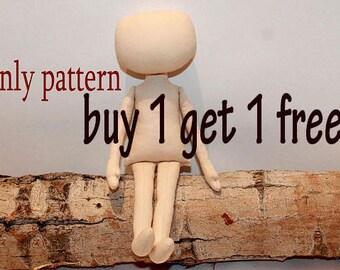 rag doll pattern cloth doll pattern cloth doll patterns fabric doll patterndoll pattern rag doll patterns PDF doll body Download pattern