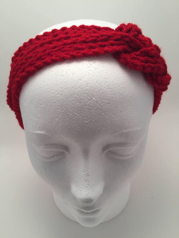 Roten keltischen Knoten Stirnband häkeln Liebe Knoten | Etsy