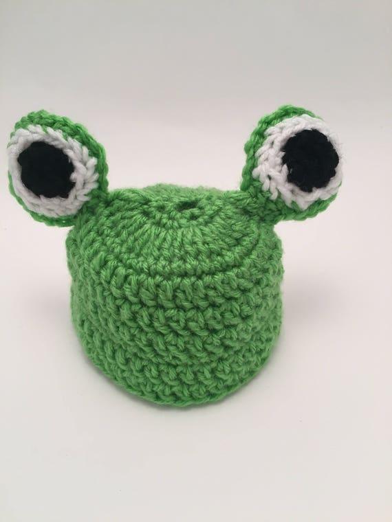 Häkelmütze Frosch Baby Frosch Newborn Fotos Neugeborene | Etsy
