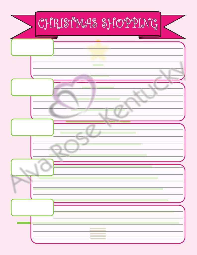 Christmas Wish List, Instant Download, Christmas Shopping, PDF Download,  Digital File, Christmas List Printable, Customizable Christmas List