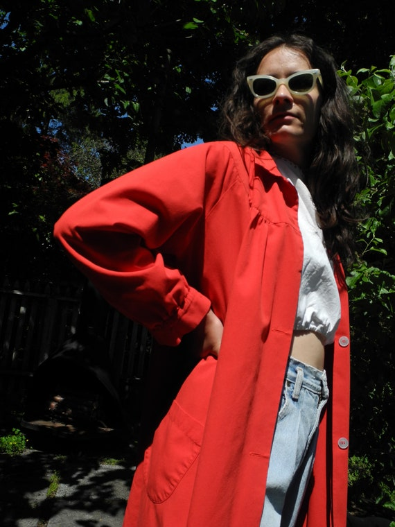 Vintage Red Smock | Small - image 3