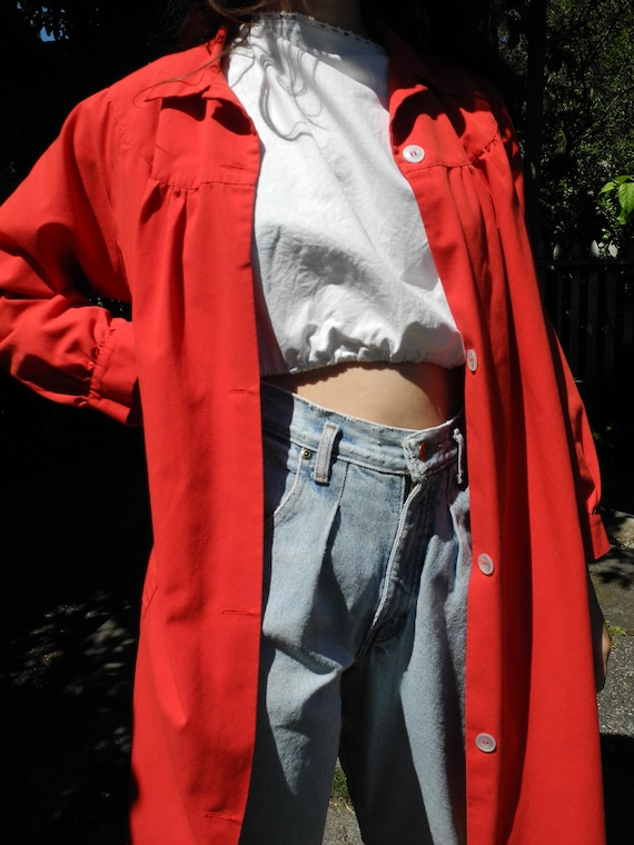 Vintage Red Smock | Small - image 4