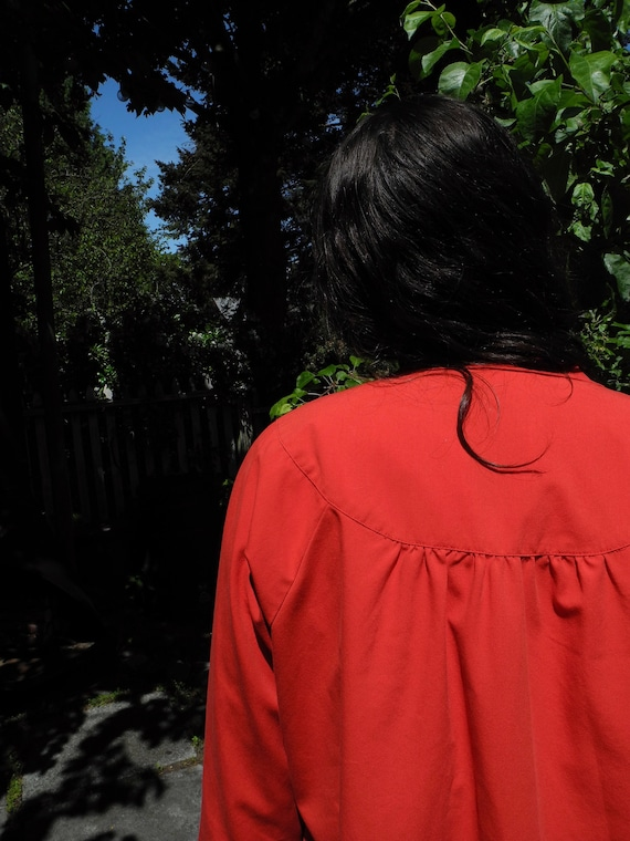 Vintage Red Smock | Small - image 7