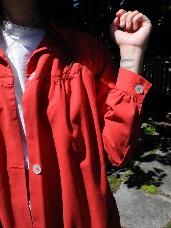 Vintage Red Smock | Small - image 10