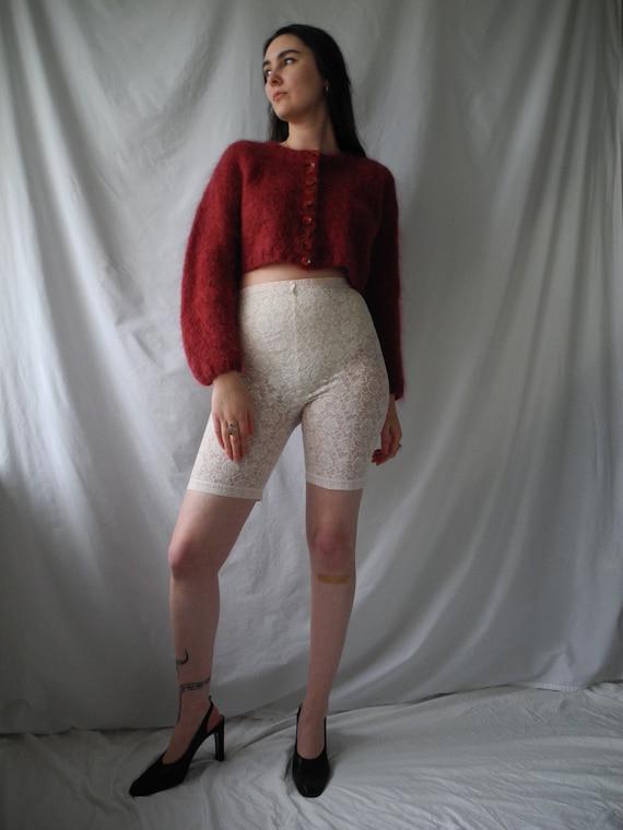 Vintage Ballet Pink Lace Bike Shorts | XS S