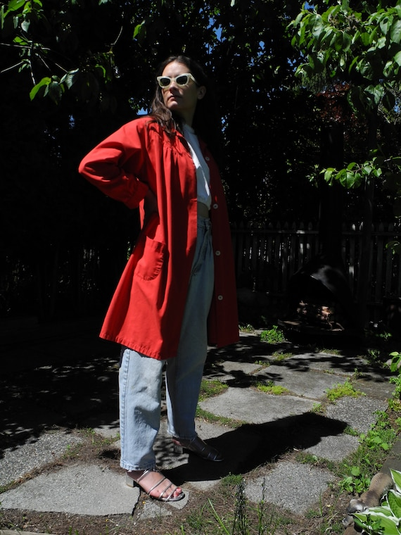 Vintage Red Smock | Small - image 2