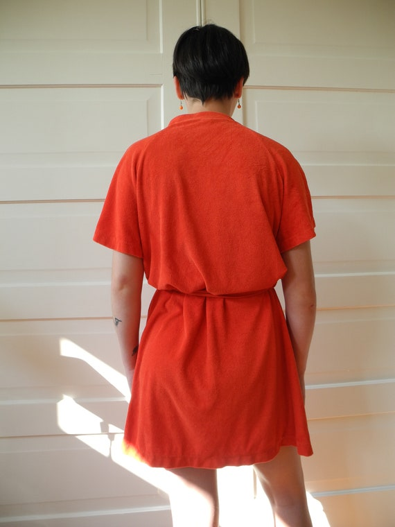Vintage Gucci Mini Robe | Red Terry | One Size Fi… - image 7