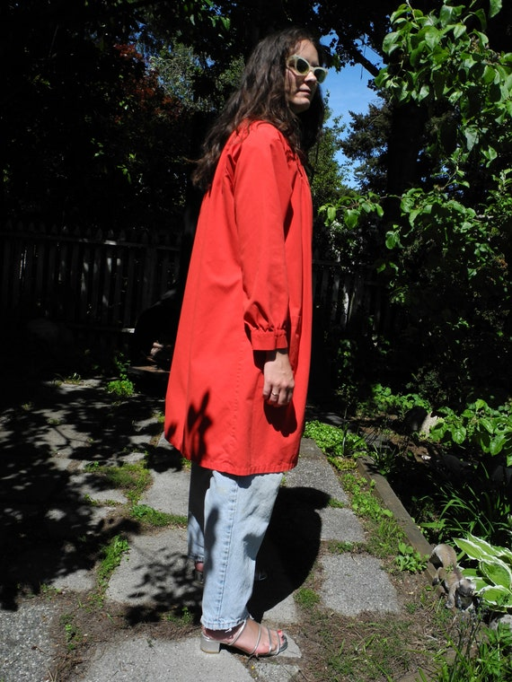 Vintage Red Smock | Small - image 5