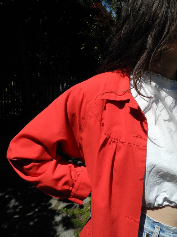 Vintage Red Smock | Small - image 8