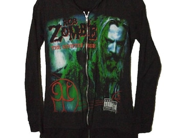 Rob Zombie Spooks-A-Poppin Long Sleeve Black T Shirt New Official