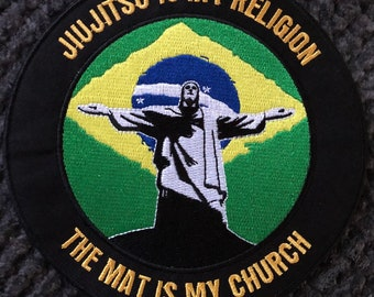 "Jiujitsu Safe Word BJJ Patch for BJJ MMA Taekwondo Karate Judo 4x4"""