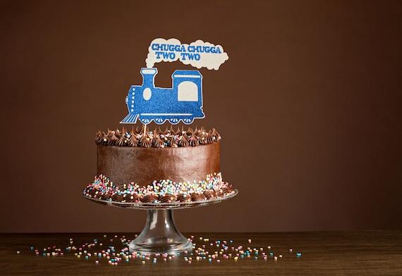 Tremendous Chugga Chugga Two Two Cake Topper 2Nd Birthday Cake Topper Etsy Funny Birthday Cards Online Aboleapandamsfinfo