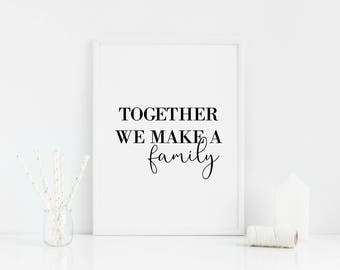 Together we make a family home print