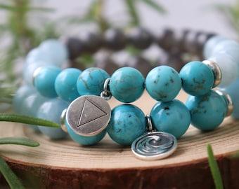 Crown Chakra COURAGE Blue Tiger Eyes Genuine Natural Gemstone. Throat Empowering STRENGTH INTUITIVE Moonstone Third Eye