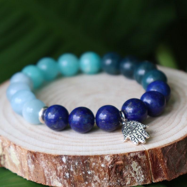 Third Eye Chakra Throat INTEGRITY Amazonite EVOLVE Apatite Intellectual Aquamarine Genuine Natural Gemstone. INTUITIVE Lapis Lazuli
