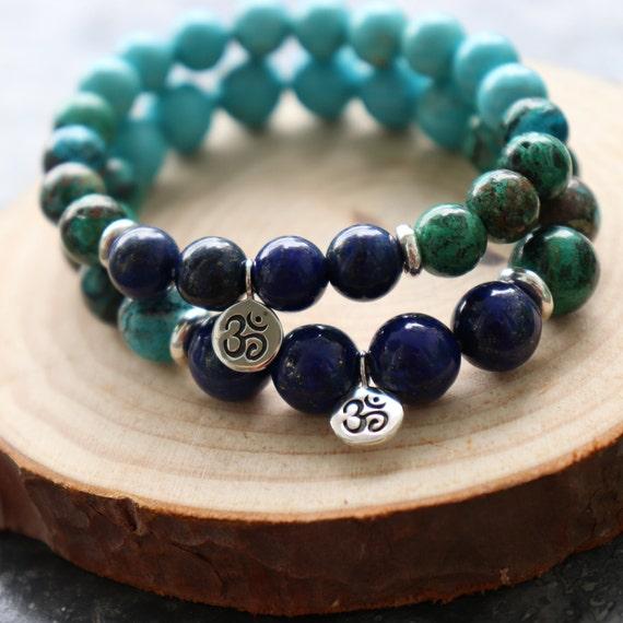 Genuine Natural Gemstone. Solar Plexus Chakra Third Eye MANIFEST Pyrite Throat WISDOM Lapis Lazuli Evolve Apatite TRUTH Chrysocolla