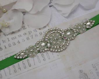 Emerald wedding belt, flower girl belt, bridesmaid belt, bridesmaid sash, wedding belt, crystal rhinestone belt, dress belt