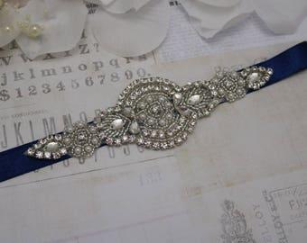 Wedding belt, navy wedding belt, navy bridesmaid belt, flower girl belt, bridesmaid sash, wedding sash, bridesmaid gift, dress belt