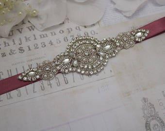 mauve belt, sash, bridesmaid belt, flower girl belt, bridesmaid sash, wedding sash, sash belt, crystal rhinestone belt, dress belt