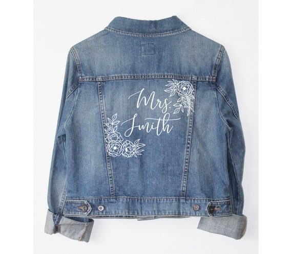 brides denim jacket