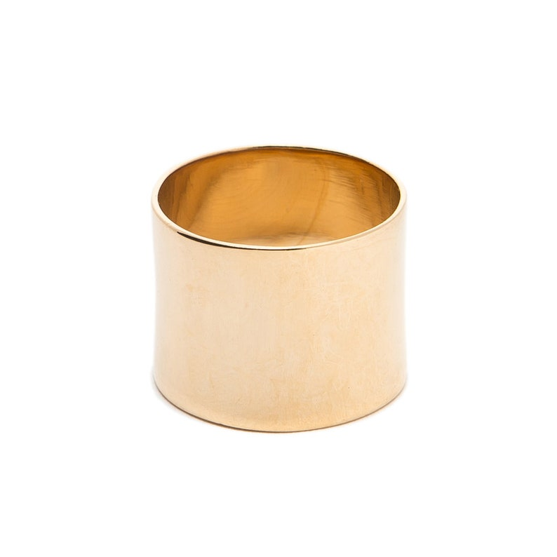 Ring band NINE plate Gold 3 Micron 18 k