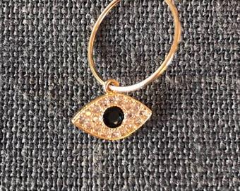 Mono NEYA gold plated hoop earrings