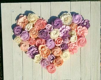 Flower heart sign