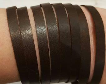 Distressed Leather Bracelet Genuine Brown Leather Bracelet Handmade Cuff Leather Bracelet Boho Leather Cuff Multi Strand Leather Bracelet