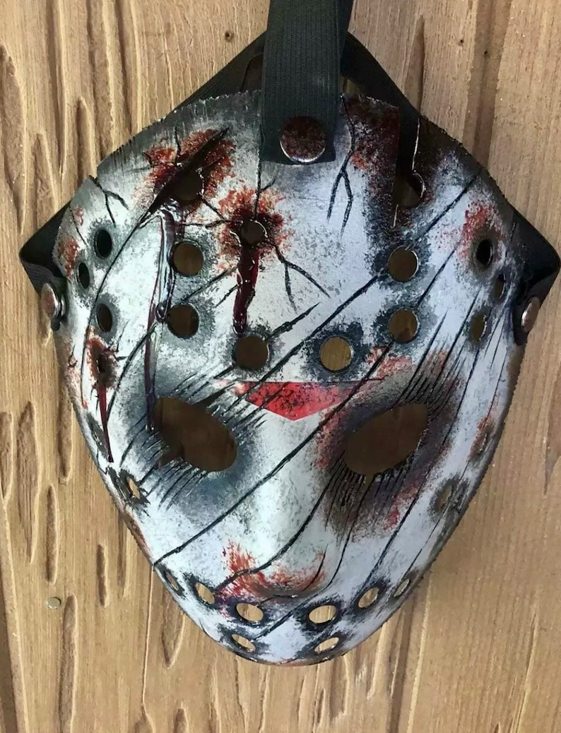 Jason Voorhees Slashed Bullet Mask